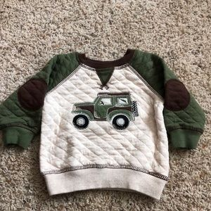 Baby boy quilted long sleeve shirt